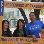 Ladies with photo frame - free kidney screening